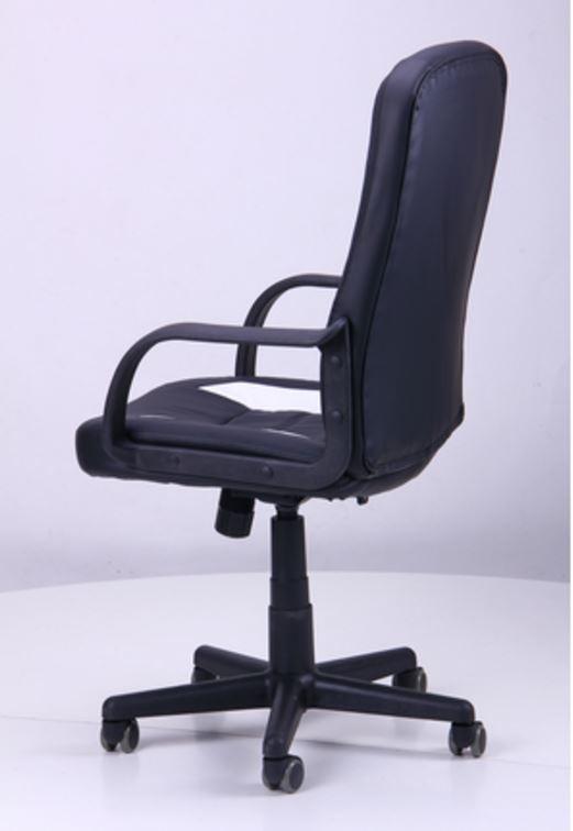 Кресло Дрифт (1699) к/з PU черный/белые вставки (фото 6)