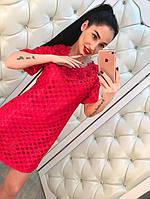Жаккардовое платье с цветами