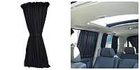 Автошторы. Шторки на микроавтобус  Volkswagen Т-5 черные
