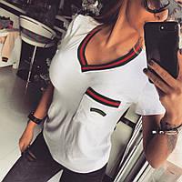 Стильная женская футболка у-t1817350