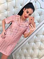 Жаккардовое женское платье с цветами