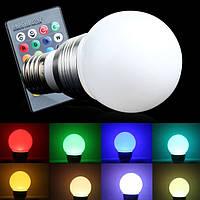 Led лампа RGB с дистанционным пультом управления. Яркие цвета. Хорошее качество. Доступная цена. Код: КГ599
