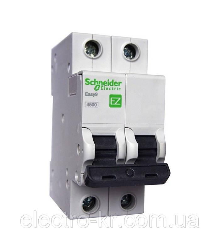 Автоматичний вимикач Schneider Electric EASY 9 16А 2П З 4,5 кА 230В