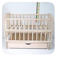 """Детская кроватка Славка """"Жасмин-2"""" с ящиком. Цвет: Натуральный"""