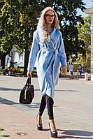 Стильное женское пальто  кашемир с капюшоном