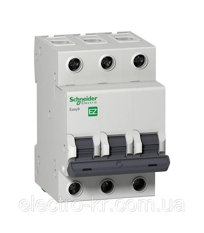 Автоматичний вимикач Schneider Electric EASY 9 3П 10А З 4,5 кА 400В