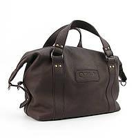 Коричневая кожаная сумка женская Viladi мягкая, фото 1