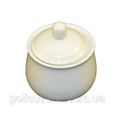 Фарфорова цукорниця біла  300 г