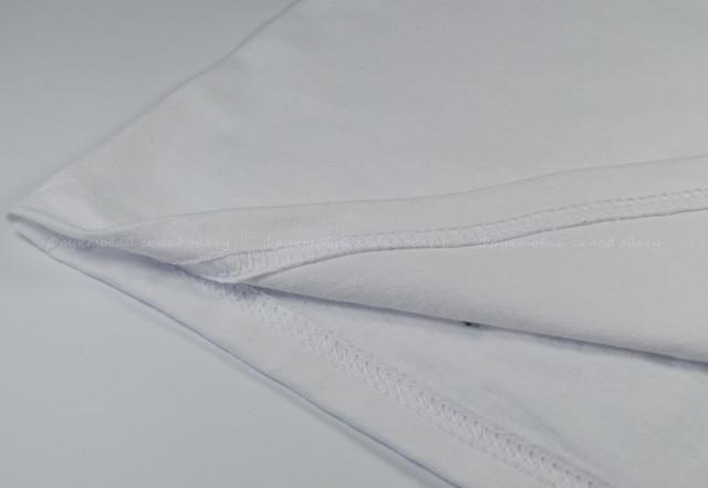 Мужская футболка с цветными длинными рукавами Белый/Красный