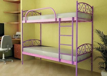 Металлическая кровать - VERONA DUO 200*90 Цвет розовый
