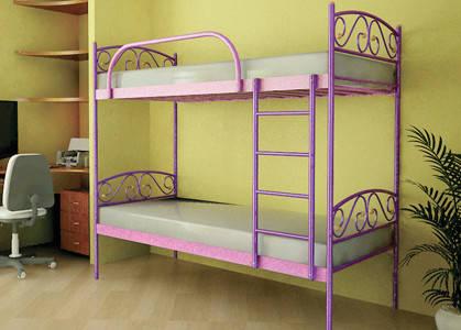 Металлическая кровать - VERONA DUO 200*90 Цвет розовый, фото 2