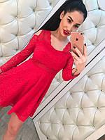 Кружевное платье с открытыми плечами, фото 1