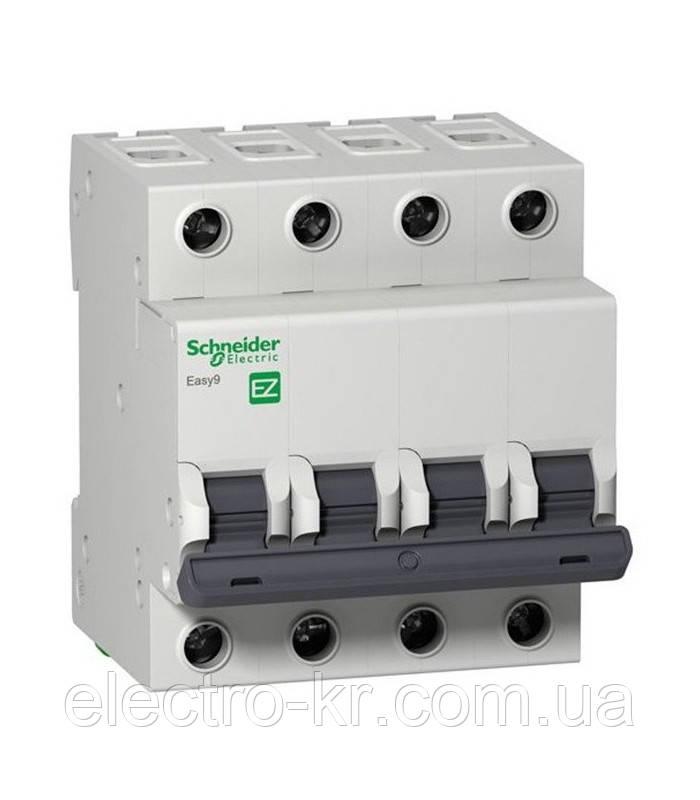 Автоматичний вимикач Schneider Electric EASY 9 4П 20А З 4,5 кА 400В