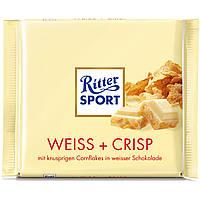 Шоколад белый  с кукурузными хлопьями Ritter Sport Weiss Crisp 250g