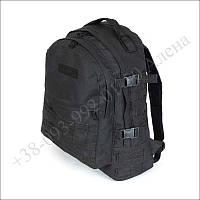 Тактический рюкзак 30 литров черный для военных, рыбалки, туризма нейлон
