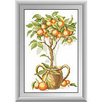 Алмазная вышивка квадратными камнями «Апельсиновое дерево» Dream Art 30274 (26 х 40 см) на холсте
