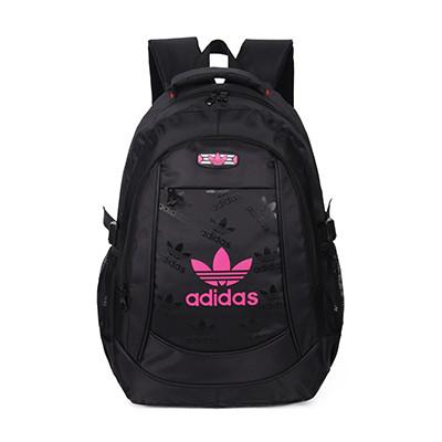 Рюкзак Adidas черный с розовым логотипом (реплика)