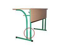 Двухместный стол для учеников с полкой и регулировкой по высоте