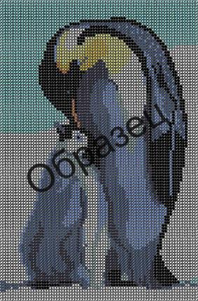 Схема для вышивки бисером «Пингвины»