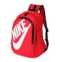 Рюкзак Nike красный с белым логотипом и надписью