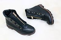 Весенние кожаные ботинки в стиле Balmain