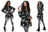 Женская стильная  демисезонная куртка-парка осень/весна