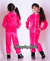 Детский спортивный велюровый костюм для девочки 3 - 7 лет Милана