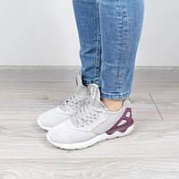 Кроссовки женские Adidas серые с фиолетовым 36р., маломерят