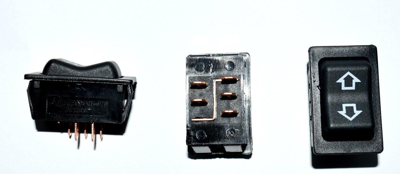 Переключатель cтеклоподъёмника ASW-27, 5pin, 12V, 40А
