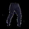 Компрессионные штаны темно синие (серебряный шов)