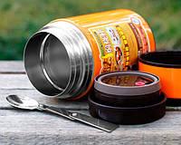 Термос для їжі (ланч-бокс) 1600 мл. (2 кольори: помаранчевий та салатовий), фото 1