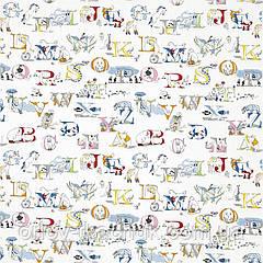 Ткань для штор ALPHABET ZOO Sanderson вышивка