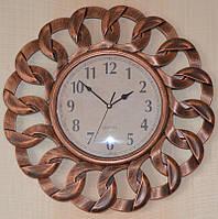 Часы на стену медные (40х40х4 см.)