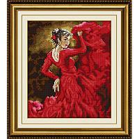 Мозаика квадратными камнями «Танец страсти» Dream Art 30211 (33 х 40 см) на холсте