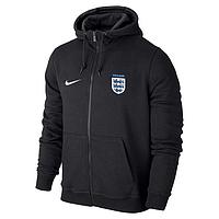 Спортивная толстовка (кофта) сборной Англии-Найк, England, Nike, с капюшоном, черная, ф4396