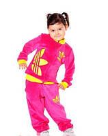 Детский велюровый спортивный костюм для девочки/ мальчика 5 - 11 лет Addidas
