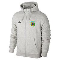Спортивная толстовка (кофта) сборной Аргентины-Адидас,  Argentina, Adidas, с капюшоном, белая, ф4397