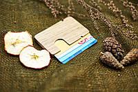 """Картхолдер модель №2 для кредитных карт из натурального дерева  """"Бочек""""  визитница"""