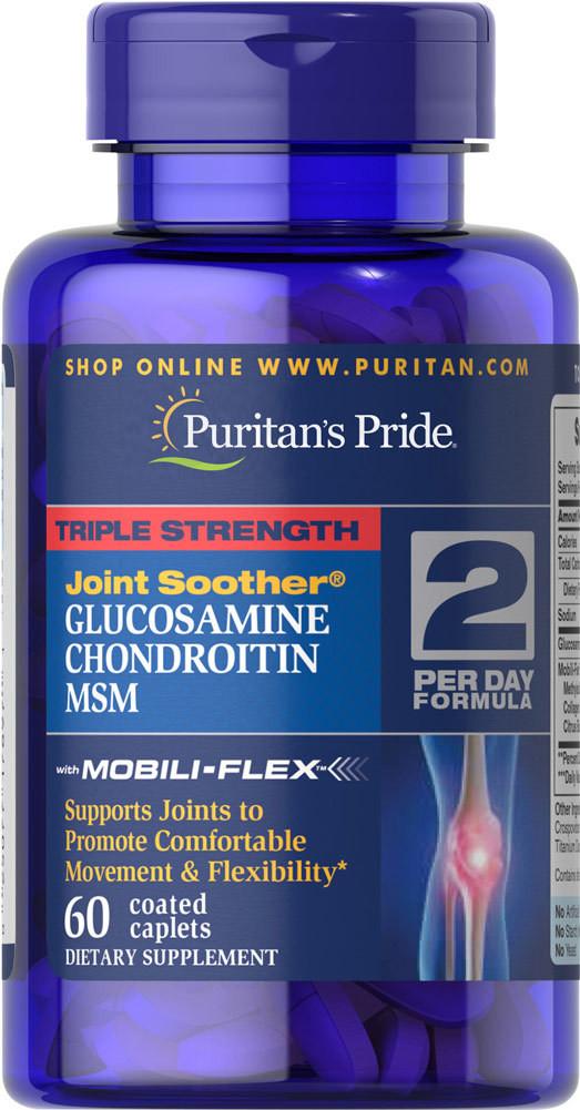 Puritans Pride Glucosamine+Chondroitin+MSM Triple Strength 60 таб.