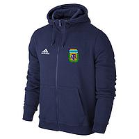Спортивная толстовка (кофта) сборной Аргентины-Адидас,  Argentina, Adidas, с капюшоном, синяя, ф4398
