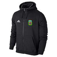 Спортивная толстовка (кофта) сборной Аргентины-Адидас, Argentina, Adidas, с капюшоном, черная, ф4399