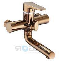 Смеситель для ванной с душем красное золото, PUD3-RG