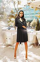 Женское кашемировое пальто-кардиган на запах черное. Хит сезона!