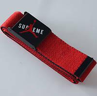Ремень красный Supreme с изображением баскетболиста
