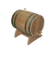 Бочка для вина дуб на подставке с краном 15 л.