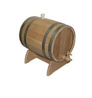 Бочка для вина дуб на подставке с краном 3 л.