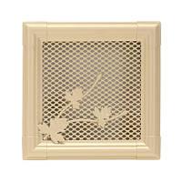 Вентиляционная каминная решетка Retro, слоновая кость 16х16