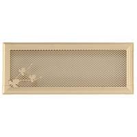 Вентиляционная каминная решетка Retro, слоновая кость 16х45