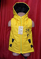 5d6571bddd5 Модные детские жилетки с капюшоном Мини Маус р.110-140 девочкам на весну и