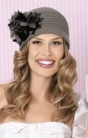 Женская теплая шапочка с цветами Aurora от Willi Польша